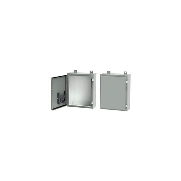 "Hoffman Enclosures Inc 1-DOOR TYPE 12/13 ENCLOSURE, 36.00"" X 36.00"" X 8.00I"", WALL-MOUNTING A363608LP"