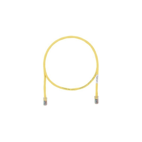 Panduit CBL ASSY MOD 24-4PR STRANDED, T568A/B CAT5E 8W8P, YELLOW,  63 FT UTPCH63YLY