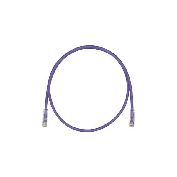Panduit MOD PATCH CORD 4PR STRANDED, UTP CAT6+ 8W8P, VIOLET,  38 FT UTPSP38VLY