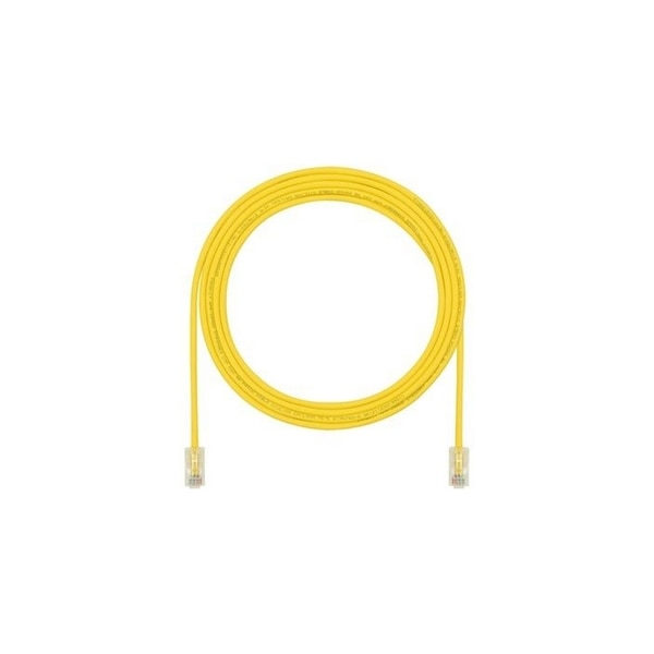 Panduit CBL ASSY MOD 28-4PR SOLID, SMALL DIAMETER 15 FT/4.57MT, YELLOW ROHS UTP28CH15YL