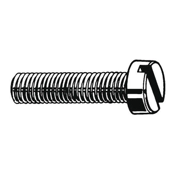 "Fabory #4-40 x 5/8"" Pan Head Slotted Machine Screw,  100 pk. U51120.011.0062"