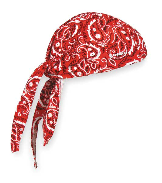 Chill-Its By Ergodyne Cooling Hat, Red, Universal 6615