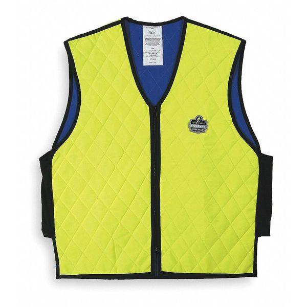 Chill-Its By Ergodyne XL Cooling Vest,  Hi-Vis Lime 6665
