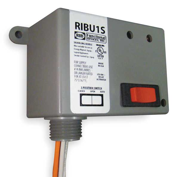 Functional Devices Inc / Rib Enclosed Pre-Wired Relay, 10A@277VAC, SPST RIBU1S