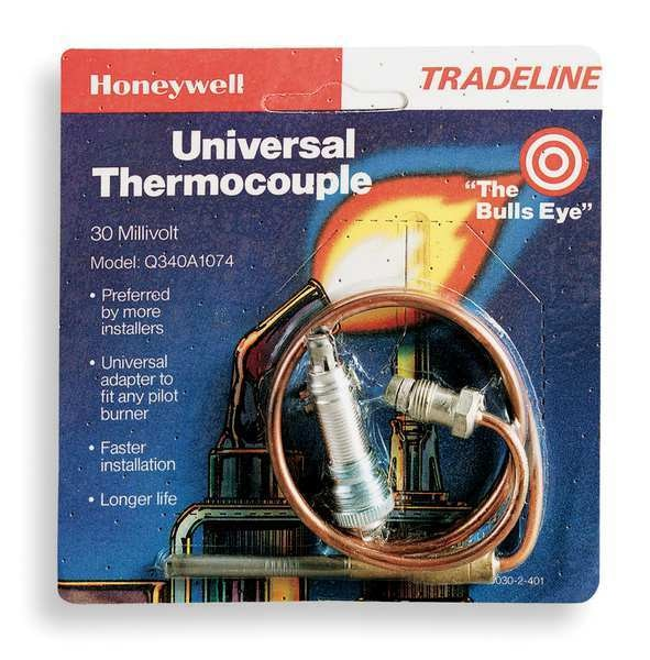 Honeywell Thermocouple,  LP/NG,  30mV,  18 in L.,  Standard Coaxial,  1 Ea PK Q340A1066