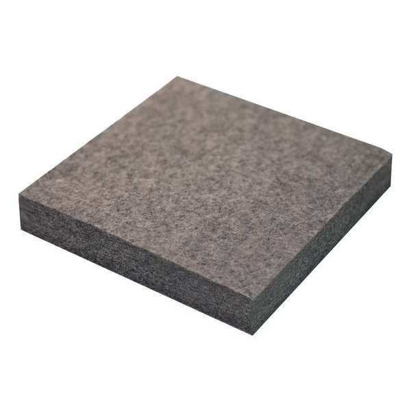 Zoro Select Felt Sheet, F3, 3/4 In Thick, 12 x 12 In 2FHG8