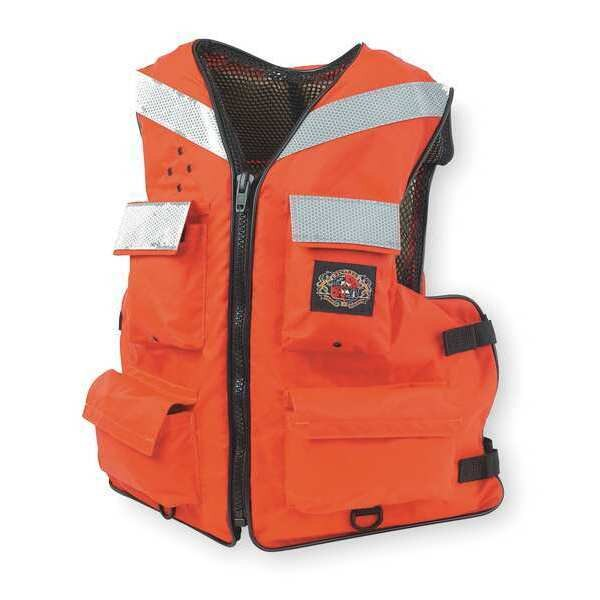 Stearns Floatation Vest, Orange, Nylon, 2XL I465ORG-06-000F