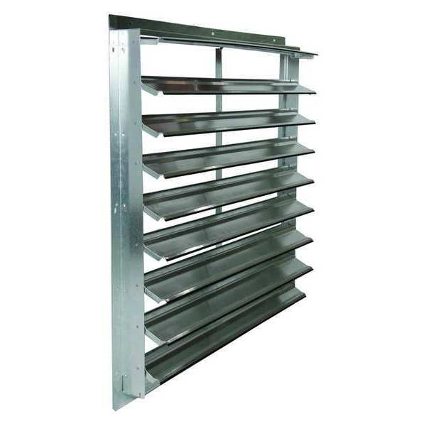 Dayton 36 in Agricultural Wall Exhaust Shutter,  39-1/2 in x 39-1/2 in 2FTX7