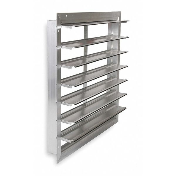 Dayton 36 in Backdraft Damper / Wall Shutter,  39-1/2 in x 39-1/2 in 53DR18