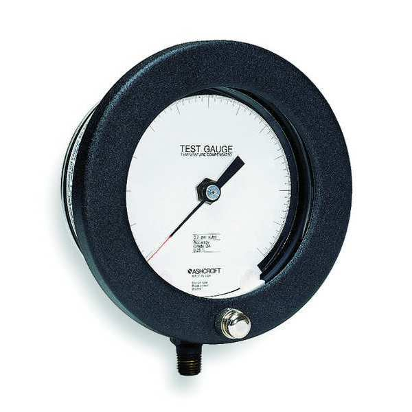 Ashcroft Pressure Gauge, 0 to 600 psi, 4-1/2In 45-1082PS 02L 600 PSI