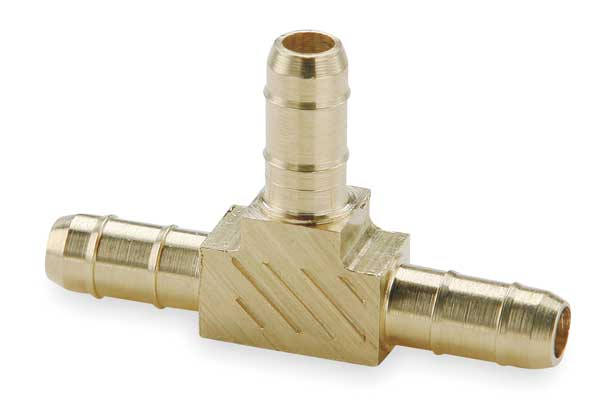 "Parker 0.17"" Barb Brass Union Tee 224-4"