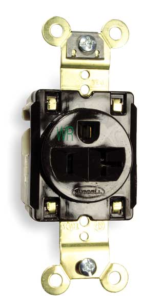 Hubbell Wiring Device-kellems HBL5361 Receptacle Single 20a 5-20r 125v Brown for sale online