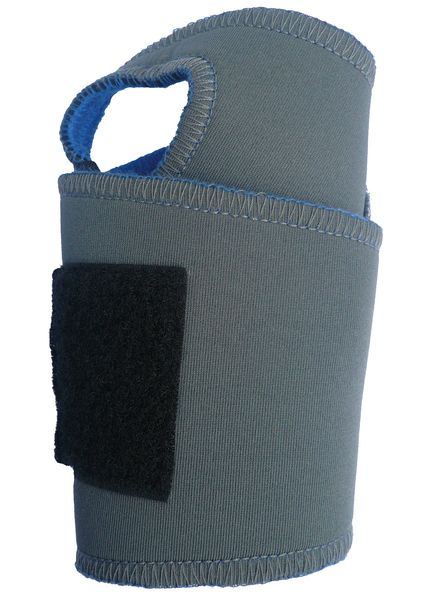Condor Wrist Support, XS/S, Ambidextrous, Gry/Blue 2HEW9