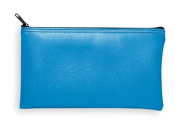 Mmf Industries Zippered Cash Bag, 6x11, Blue 2340416W38
