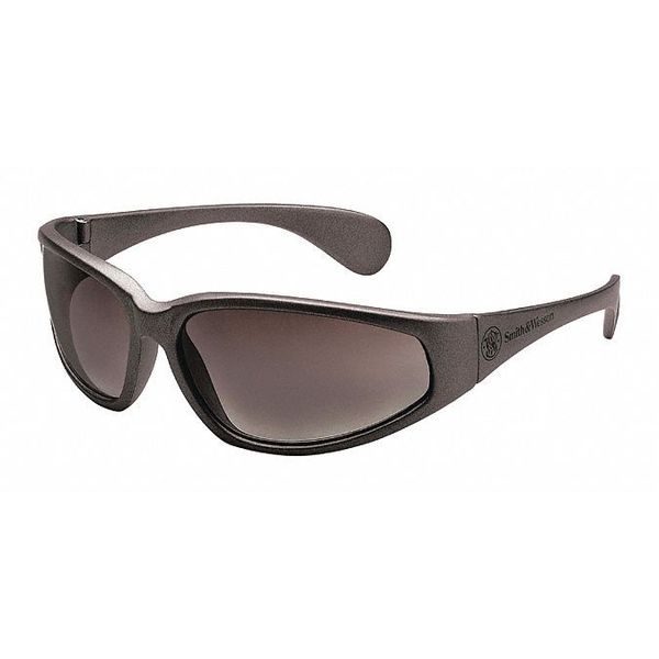 Smith & Wesson 38 Special Safety Glasses Black Frame And Gray Scratch-Resistant Lens 19859