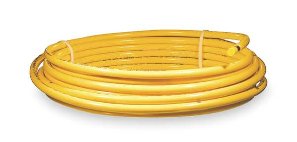 """Mueller Industries 5/8"""" OD x 50 ft. YL Plastic Coil Copper Tubing Type ACR DY10050"""