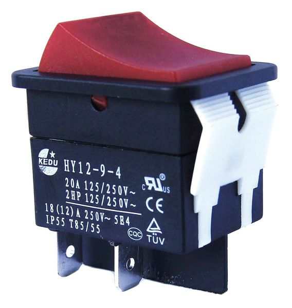 Power First Rocker Switch, SPST, 2 Connections 2LNA5