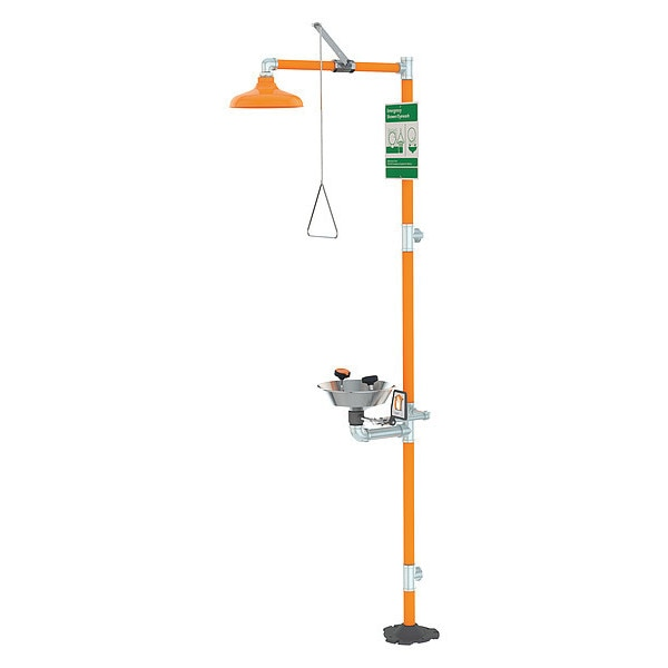 Guardian Equipment Drench Shower With Face/Eyewash, 16 In. W G1950