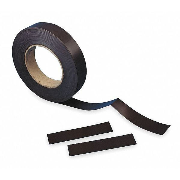 Aigner Index Magnetic Label Roll, W 1in, L 50 Ft, Black MP-100