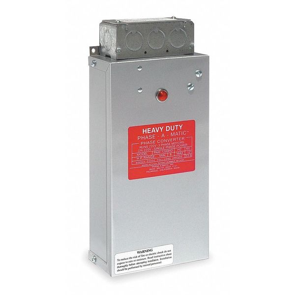 Phase-A-Matic Phase Converter, Static, 8-12 HP PAM-1200HD