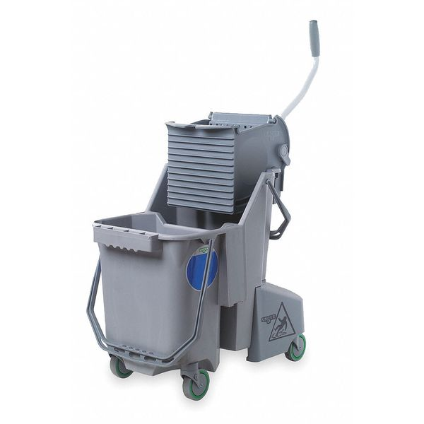 Unger Mop Bucket and Wringer,  8 gal.,  Gray,  Includes: Fill Guide COMBG