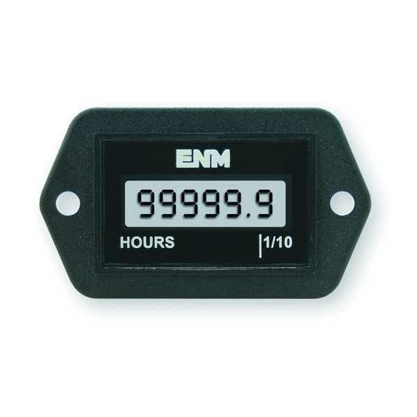 Hour Meter, LCD, 2-Hole, 4 5 to 28VDC