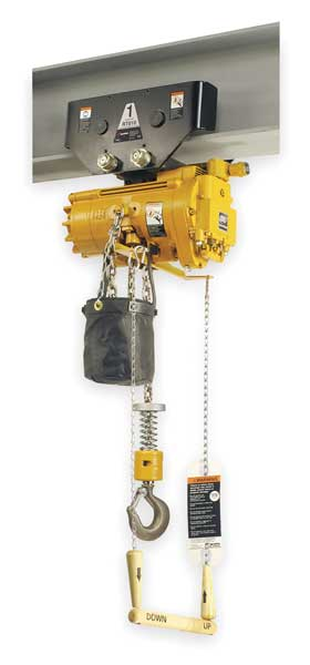 Ingersoll Rand Air Chain Hoist, 550 lb. Cap., 10 ft. Lift ML250KR-1DA10-R6U