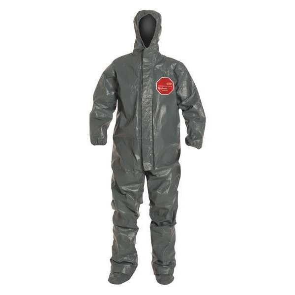 Dupont Hooded Chemical Resistant Coveralls,  3XL,  Gray,  Tychem(R) 6000 FR TP199TGY3X000200