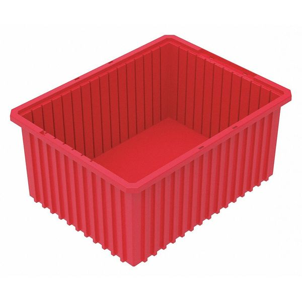 Akro-Mils Red Divider Box 22 3/8 in x 17 3/8 in x 10 in H,  1 PK 33220RED