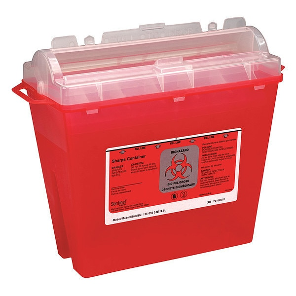 First Aid Only Sharps Container, 1-1/4 Gal., Rotor Lid M943