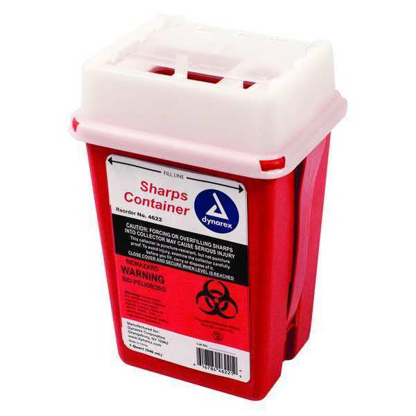 First Aid Only Sharps Container, 1/4 Gal., Sliding Lid M949