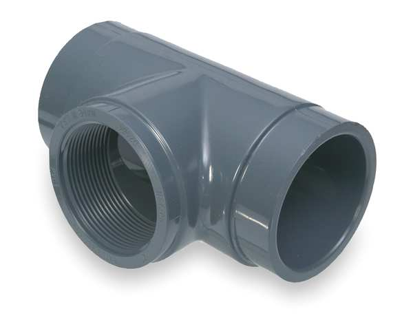 """Gf Piping Systems 1-1/2"""" FNPT x Socket PVC Tee Sched 80 802-015"""