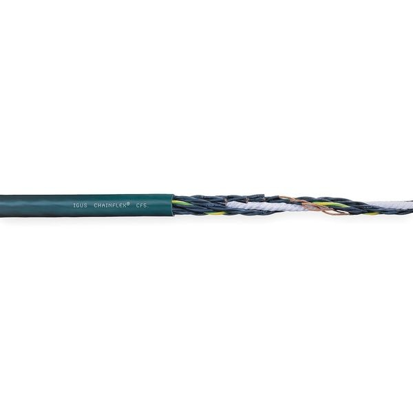 Chainflex 16 AWG 7 Conductor Continuous Flex Control Cable 600V GN CF5-15-07-100