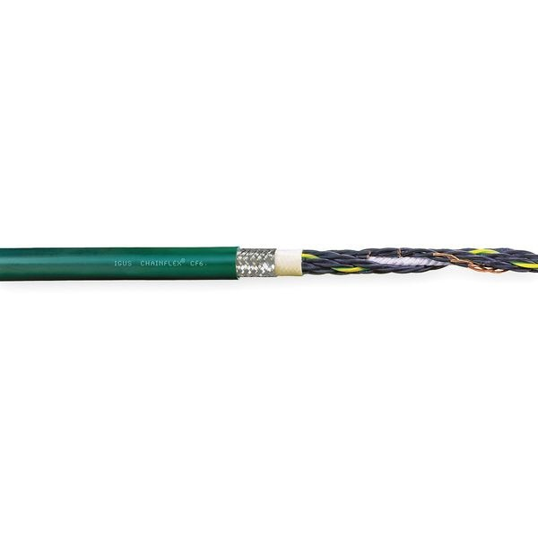 Chainflex 14 AWG 4 Conductor Continuous Flex Control Cable 600V GN CF6-25-04-100