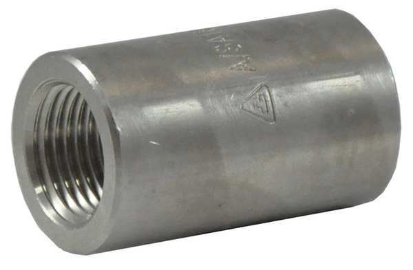 "Zoro Select 1/2"" x 1/4"" FNPT 316 SS Reducing Coupling 2UA23"