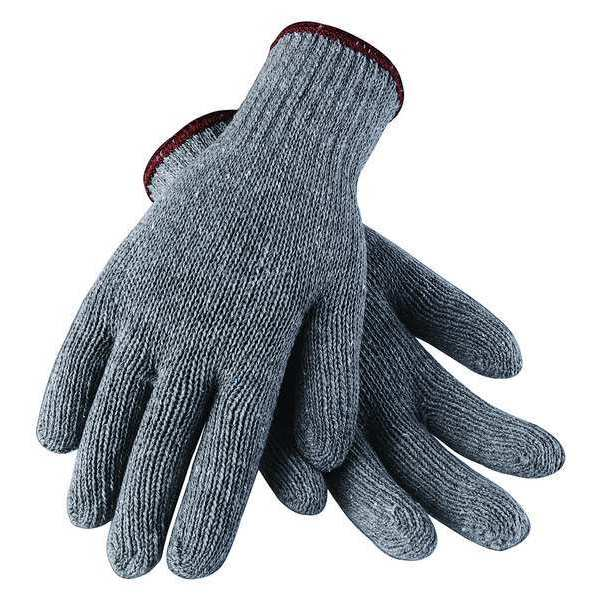 Condor String Knit Gloves,  Lightweight,  Gray,  Cotton/Polyester Large 2UTZ2