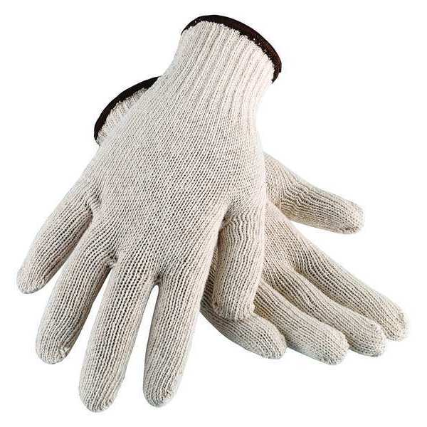 Condor String Knit Gloves,  Cotton,  White,  Large 2UTZ7