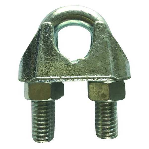 Dayton Wire Rope Clip, 1/8 In, Maleable Iron 2VKH9