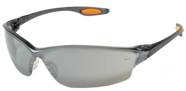 Condor Safety Glasses,  Wraparound Silver Mirror Polycarbonate Lens,  Scratch-Resistant 2VLA4