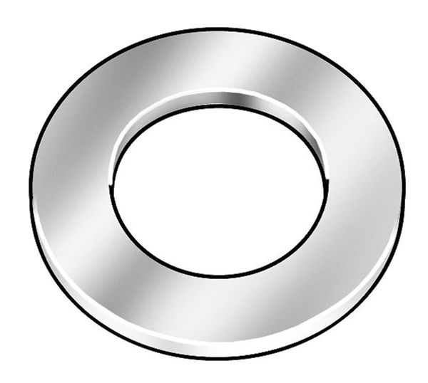 """Zoro Select 3/8"""" x 5/8"""" OD Plain Finish 18-8 Stainless Steel Military Specification Flat Washers,  50 pk. AN960-C616L"""