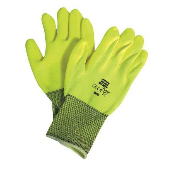 Honeywell North Coated Gloves, M, High Visibility Yellow, PR NF11HVY/8M