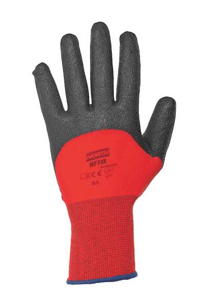 Honeywell PVC Coated Gloves,  3/4 Dip Coverage,  Red,  S,  PR NF11X/7S