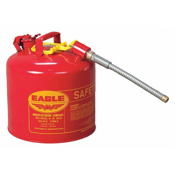Eagle 5 gal. Red Steel Type II Safety Can for Flammables U251S