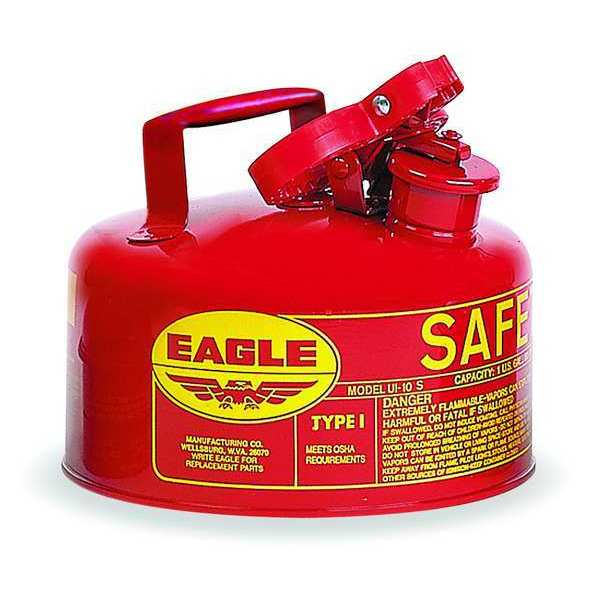 Eagle 1 gal. Red Galvanized steel Type I Safety Can for Flammables UI10S