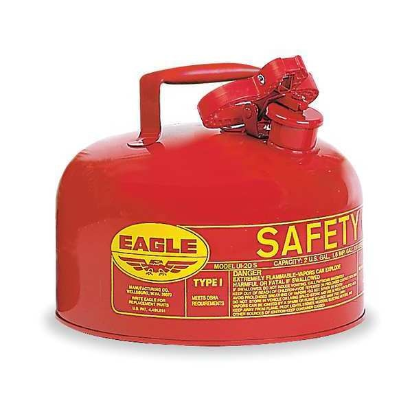 Eagle 2 gal. Red Galvanized steel Type I Safety Can for Flammables UI20S