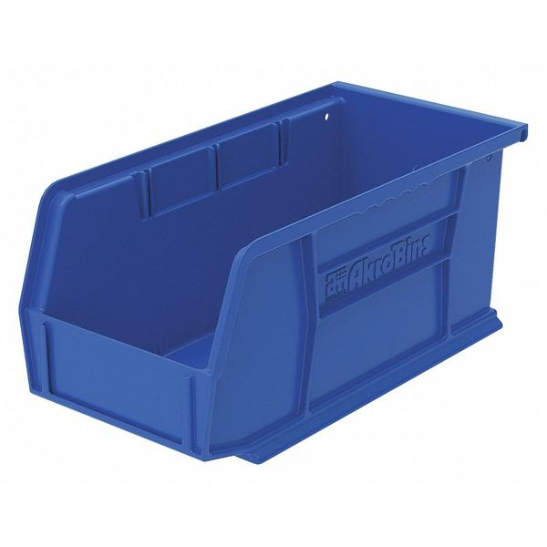 "Akro-Mils 5""L x 5-1/2""W x 10-7/8""H Blue Hang and Stack Bin 30230BLUE"