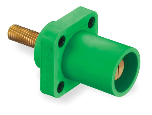 Hubbell Wiring Device-Kellems Receptacle, 3R,  4X,  12K, Stud, Green HBLMRSGN