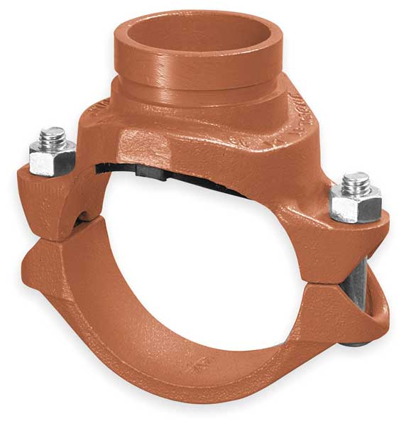 "Gruvlok Clamp-T w/GroovedBranch, 6x4"", Iron, 500psi 0390173755"