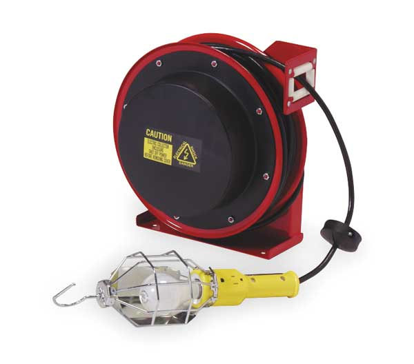Reelcraft REELCRAFT Incandescent Extension Cord Reel with Hand Lamp L 4035 163 1