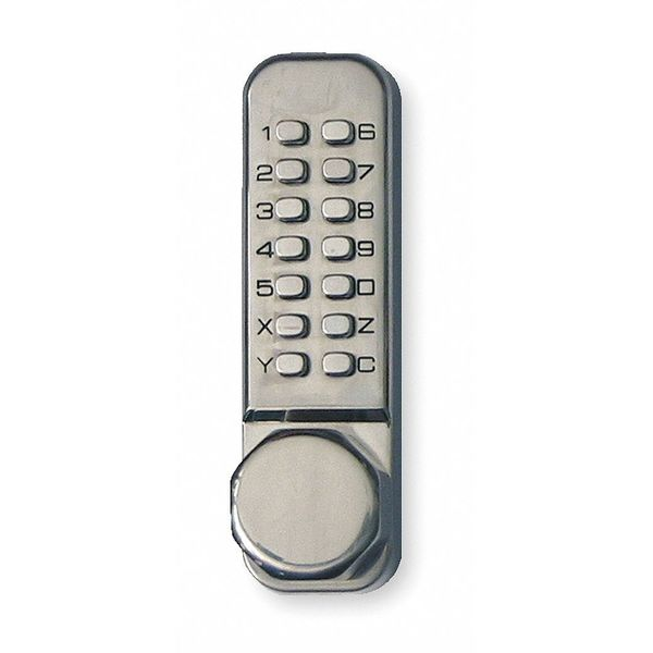Kaba Push Button Lock, Entry, Passage, Stainless LD4523532D41